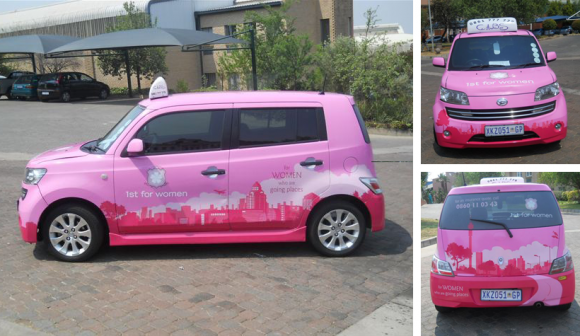 1st For Women Cab Branding